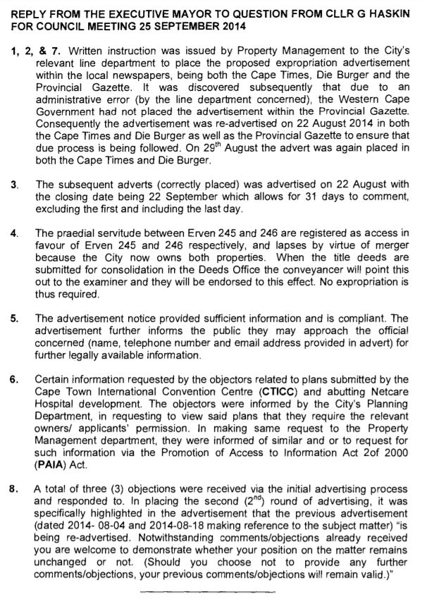 CTICC expansion advertising irregularities 2