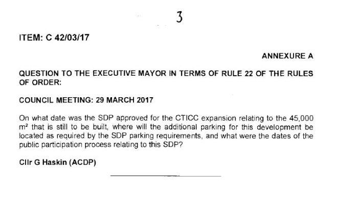 Q&A CTICC SDP Approval date.JPG